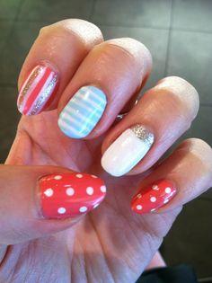 Fun summer nails. #Nails #Beauty #Gifts #Holidays Visit Beauty.com for more.