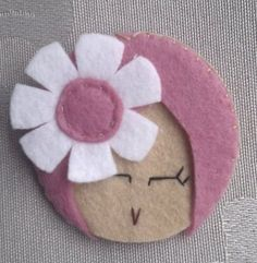 Felt brooch - like girls wearing tudung