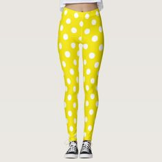 Yellow and White Polka Dot