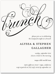 day after wedding brunch invitation   wedding vows   brunch, Wedding invitations