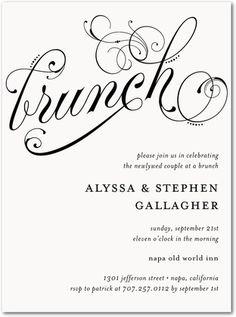 day after wedding brunch invitation | wedding vows | wedding, Wedding invitations