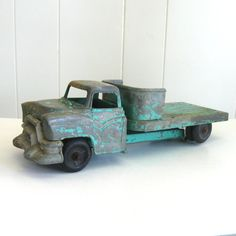 Vintage Metal Toy Truck... so shabby chic!