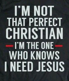 So true. There is no such thing as a perfect Christian this side of heaven. The moment we think we are perfect, we are fallen from grace--our need and dependence on Christ Jesus. Prayer Quotes, Bible Verses Quotes, Faith Quotes, Wisdom Quotes, True Quotes, Scriptures, Humble Quotes Bible, Religious Quotes, Spiritual Quotes