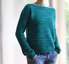 Laurie by Josée Paquin. malabrigo Rios in Teal Feather colorway