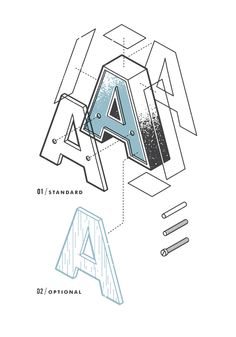 The Exploded Alphabet — the Design Office of Matt Stevens - Direction + Design + Illustration