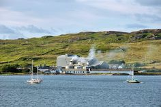 Port Ellen Maltings and two sailing yachts, Isle of Islay