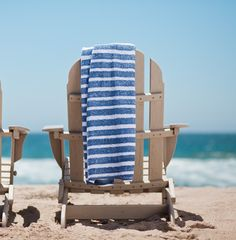 $89.99 Sunwashed Stripes Collection Towels - Take a trip to the French Rivera with our Sunwashed Stripes Collection. Inspired by Cote d'Azur's classic striped bateau neck and a dose of Southern California freshness, this collection adds well-traveled character to your beach persona. Whether it's red or indigo stripes, these saturated stripes stand out against the crisp white base. The HomeMint exclusive collection includes plush beach and bath towels, carryalls and pillows.