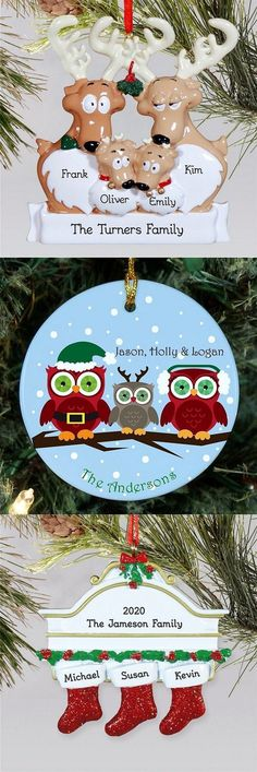 Family Christmas Ornaments, Beaded Christmas Ornaments, Personalized Christmas Ornaments, Christmas Art, Christmas Ideas, Personalized Books For Kids, Easy Ornaments, Wood Burning Crafts, Clay Pot Crafts