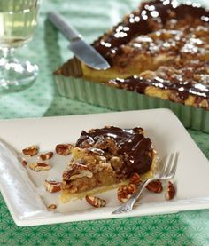 Tosca Pie with Pecan Nuts and Marzipan