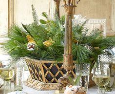 Pinecones, Evergreen and Oranges