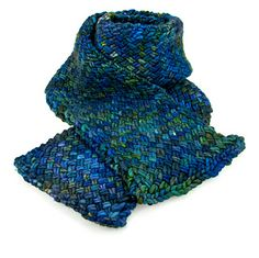 Plaited basket scarf free - in Ravelry library