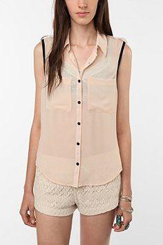 Transparent collard shirt