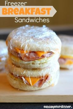 Homemade Freezer Breakfast Sandwiches - Eat Cake For Dinner