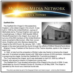 MormonMediaNetwork.com - The Gadfield Elm Chapel