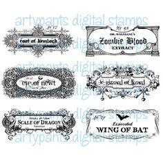 potion labels digital stamp more potion labels labels digital digital ...