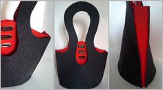 Double color bag made of felt by Malikdesign on Etsy