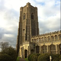 The tallest village church tower in Britain! Lavenham, Suffolk, England