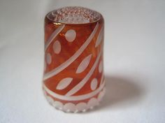 Vintage Glass Thimble  German
