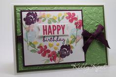 Stampin' Up! Sneak Peak - Painted Petals Stamp Set Heart Wreath, Spring Flowers TIEF & Celebrate Today Stamp Set.  Kelly Kent - mypapercraftjourney.com.