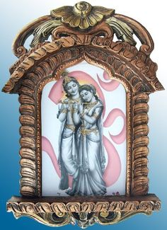Lord Krishna Standing in Frount Om Pic in Jarokha >>> This is an Amazon Affiliate link. You can find out more details at the link of the image.