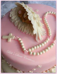 Best Indoor Garden Ideas for 2020 - Modern Crazy Cakes, Fancy Cakes, Cake Icing, Eat Cake, Cupcake Cakes, Christening Cake Girls, Angel Baby Shower, Religious Cakes, Angel Cake