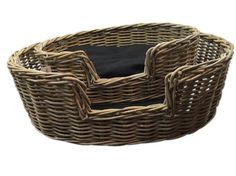 Classy dog or cat bed with luxurious cushion and woven rattan over a sturdy frame. The pets love to curl up in this oval shaped bed. The mattress is large and soft, keeping your cat or dog cosy while on their bed. Its is a bed that looks good in any setti Large Pet Beds, Cat Basket, Black Cushions, Brown Dog, Medium Dogs, Living Furniture, Dog Bed, Small Dogs, Bedding Sets
