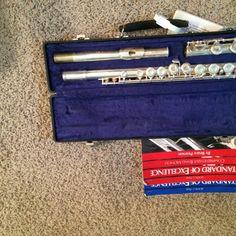 For Sale: Flute, Flute Case, Flute Books for $50