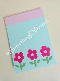 Cute Handmade Notepad, #flowers