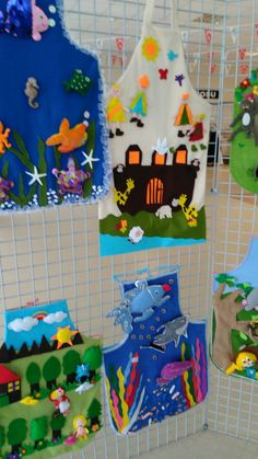 Hikaye önlügu Class Decoration, School Decorations, Felt Diy, Felt Crafts, Teacher Apron, Felt Board Stories, Teaching Aids, Kids Apron, Sensory Toys
