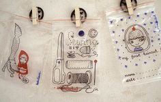 Reclosable bag decorated with waterproof markers
