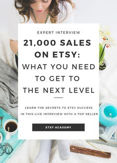 Ever wondered what it takes to become a top seller on Etsy? Learn all the juicy top seller secrets in this live top seller interview! Click to watch now.