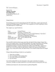 9 Contoh Surat Lamaran Kerja Ideas Surat Creative Cv Template Creative Cv