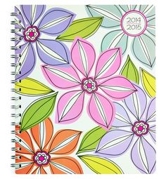 Whimsical Flower Large Weekly/Monthly Planner Planner by Studio C!  #planners #backtoschool #teachers