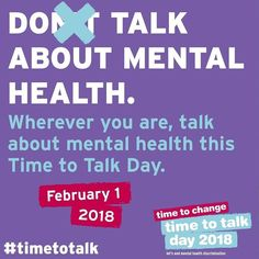 Time to Talk Day 2018 is tomorrow Thursday 1st February. I have my Time to Talk pack, thank you so much, Time to Change.