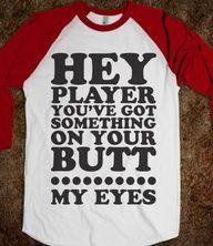 Too funny :) perfect for baseball season :) Baseball Girlfriend Shirts, Baseball Shirts, Funny Baseball, Baseball Pants, Baseball Season, Baseball Players, Couple Shirts, Diamond Are A Girls Best Friend, Softball