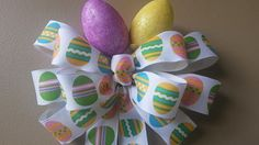 Easter Egg Bow~ The perfect finish for the kiddos Easter Basket!  $8.00