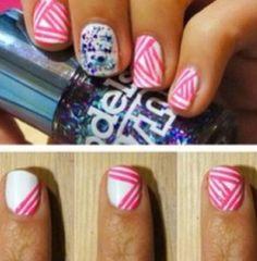 Easy and cute DIY nail art.