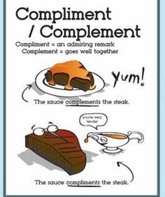 """Compliment"" vs ""complement""... from Languagelab"