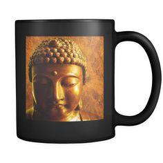 Black Coffee Mug Buddha
