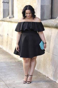 STYLISH BLACK DRESSES FOR THE PLUS SIZE LADIES