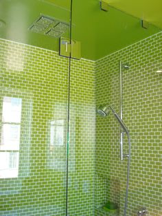 lime green shower