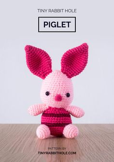 ♥ Description ♥ Piglet is Winnie the Poohs closest friend amongst all the toys/animals featured in the stories. He is a Very Small Animal of a generally timid disposition, he tries to be brave and on occasion conquers his fears. This is a not a completed toy. If you would like to