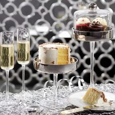 Closer to midnight, serve savory sweets as you toast to the new year!