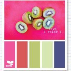 Kiwi color pallet