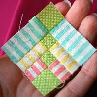 You're going to love Rainbow Flowers Mini Block by designer HopeTN. -- mini quilt block pattern, perfect way to use your smallest scraps! Diy Quilt, Scrappy Quilts, Mini Quilts, Patchwork Quilting, Patchwork Ideas, Crazy Patchwork, Patchwork Patterns, Quilt Top, Quilt Block Patterns
