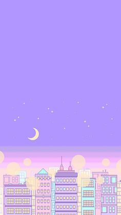 vaporwave portada A purple background outlines a fantastic night. Wallpapers Purple, Purple Wallpaper Iphone, Cute Pastel Wallpaper, Anime Scenery Wallpaper, Aesthetic Pastel Wallpaper, Kawaii Wallpaper, Pretty Wallpapers, Cellphone Wallpaper, Galaxy Wallpaper