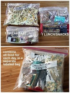 Lightweight, Nutritious Backpacking & Camping Food. How to make and pack 7 days of breakfasts, lunches, dinners & snacks that fit in a bear barrel. TheYummyLife.com #backpackingbreakfast #backpackingfood #campingfooddinner