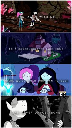 "Bubbline + Marceline's song ""Happy Ending"" ~ Adventure Time: Princess Bubblegum and Marceline Abadeer Adventure Time Ending, Adventure Time Princesses, Adventure Time Marceline, Cartoon Network Adventure Time, Adventure Time Quotes, Adventure Time Stuff, Marceline Songs, Adventure Time Anime, Cartoon Shows"