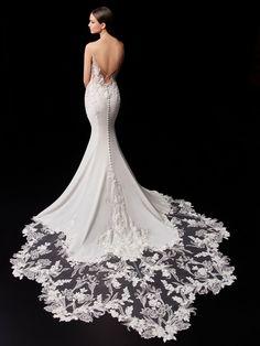 Pearl - 2021 Enzoani | Enzoani Mermaid Dresses, Bridal Dresses, Designer Wedding Dresses, Wedding Gowns, Wedding Attire, Vows Bridal, Bridal Reflections, Bridal Dress Design, Gorgeous Wedding Dress