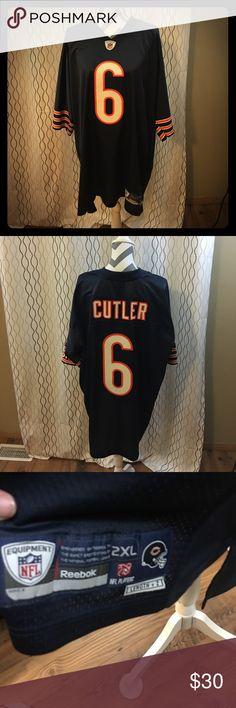Chicago Bears 🐻 jersey Cutler #6 Chicago bears quarterback🏈 Reebok Shirts